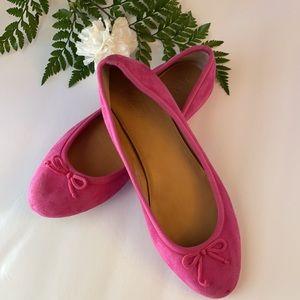 J. Crew Pink Flats